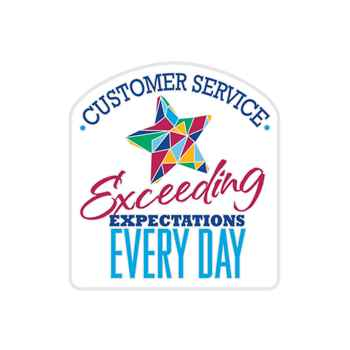 Customer Service: Exceeding Expectations Every Day Lapel Pin With Presentation Card