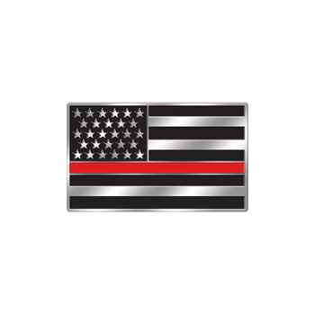 The Thin Red Line Lapel Pin With Presentation Card