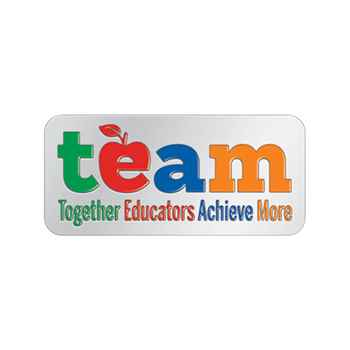 TEAM: Together Educators Achieve More Lapel Pin With Presentation Card