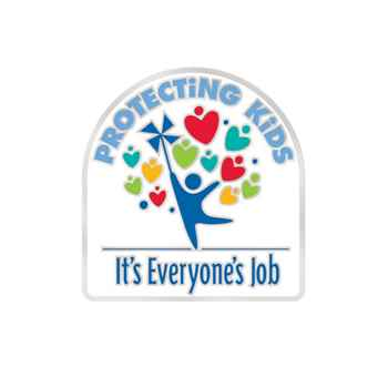 Protecting Kids: It's Everyone's Job Lapel Pin With Presentation Card