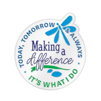 Making A Difference Today, Tomorrow & Always Lapel Pin With Presentation Card