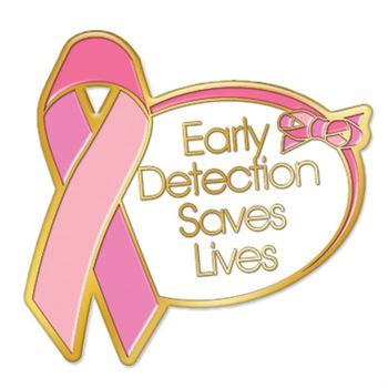 Early Detection Saves Lives Lapel Pin with Presentation Card