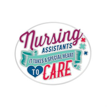 Nursing Assistants It Takes A Special Heart To Care Lapel Pin With Presentation Card