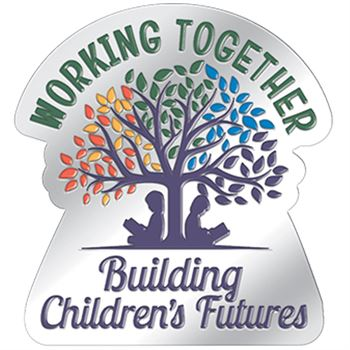 Working Together Building Children's Futures Lapel Pin With Presentation Card