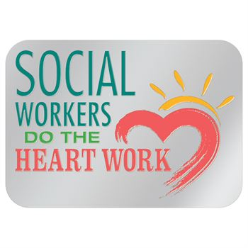 Social Workers Do All The Heart Work Lapel Pin With Presentation Card