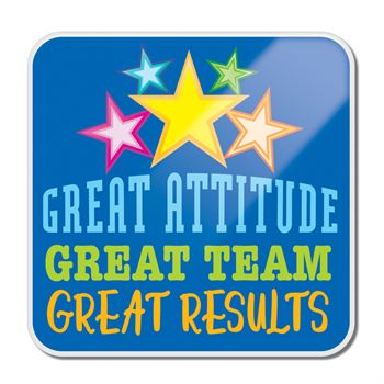 Great Attitude Great Team Great Results Lapel Pin With Presentation Card