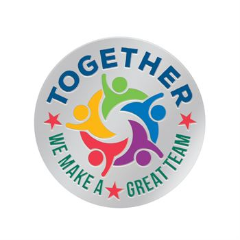 Together We Make A Great Team Lapel Pin With Presentation Card
