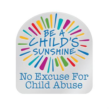 Be A Child's Sunshine No Excuse For Child Abuse Lapel Pin With Presentation Card