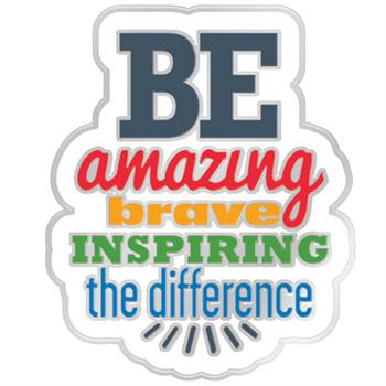 Be Amazing Brave Inspiring The Difference Lapel Pin With Presentation Card