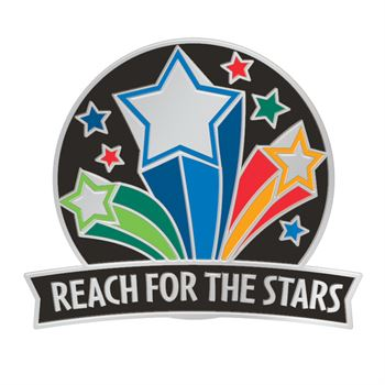 Reach For The Stars Lapel Pin With Presentation Card
