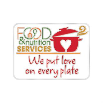 Food & Nutrition Services: We Put Love On Every Plate Lapel Pin With Presentation Card