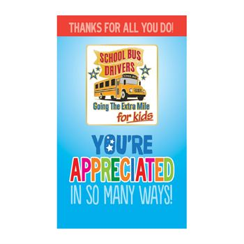 School Bus Drivers Lapel Pin With Presentation Card