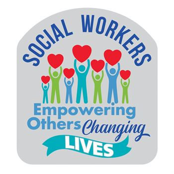 Social Workers: Empowering Others, Changing Lives Lapel Pin With Presentation Card