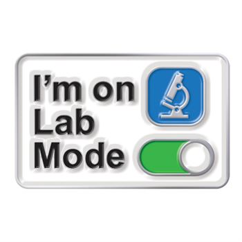 Currently on Lab Mode Lapel Pin With Presentation Card