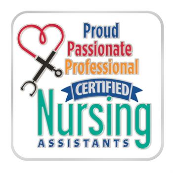 Certified Nursing Assistants: Proud, Passionate, Professional Lapel Pin With Presentation Card