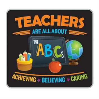 Teachers Are All About The ABC's Lapel Pin With Presentation Card