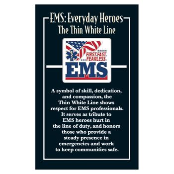 EMS: First. Fast. Fearless. Lapel Pin With Presentation Card
