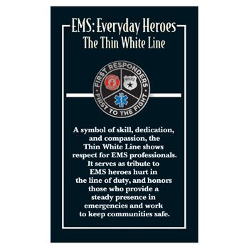 First Responders, First To The Fight Lapel Pin With Presentation Card