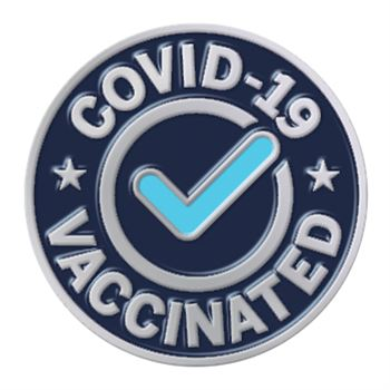 Covid-19 Vaccinated Lapel Pin With Presentation Card