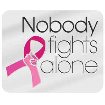 Nobody Fights Alone Breast Cancer Awareness Lapel Pin with Presentation Card