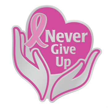 Never Give Up! Lapel Pin With Presentation Card