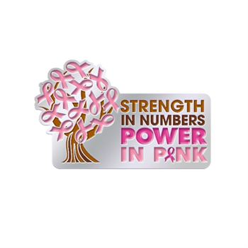 Strength In Numbers Power In Pink Lapel Pin With Presentation Card