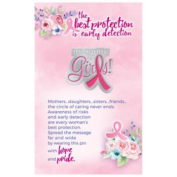 Let's Hear It For The Girls! Lapel Pin With Presentation Card