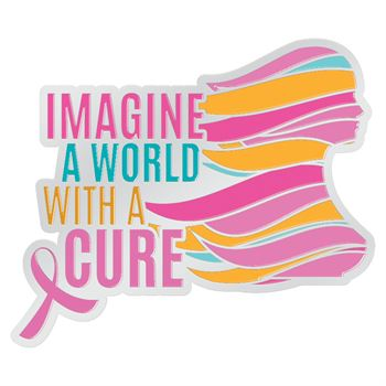 Imagine The World With A Cure Lapel Pin With Presentation Card