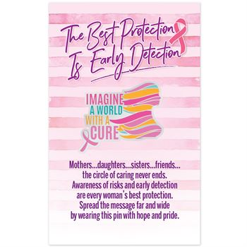 Imagine The World With A Cure Lapel Pin