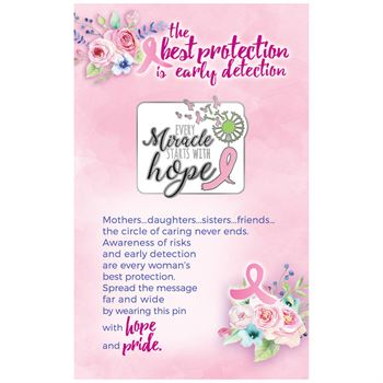 Every Miracle Starts With Hope Lapel Pin With Presentation Card
