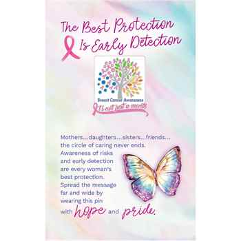 Breast Cancer Awareness It's Not Just A Month Lapel Pin With Presentation Card
