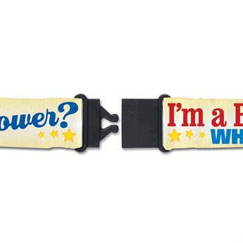 I'm A Bus Driver, What's Your Superpower? Full-Color Breakaway Lanyard