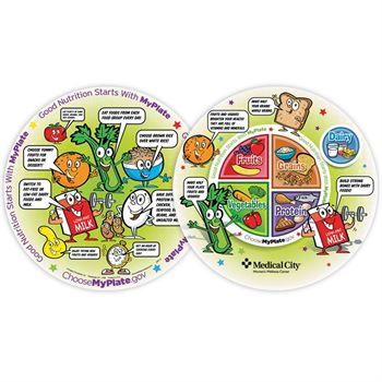 MyPlate Child's Round Laminated Placemat - Personalization Available