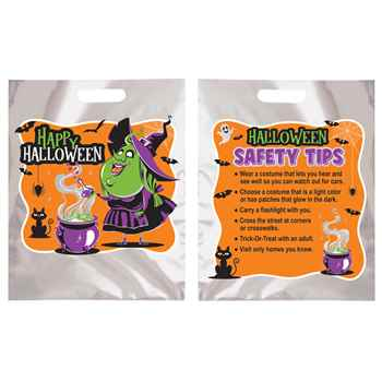Happy Halloween Witch With Cauldron Reflective Trick-Or-Treat Bag (Non-Personalized)