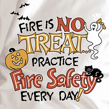 Fire Is No Treat... Practice Fire Safety Every Day! Trick-Or-Treat Bag (Non-Personalized)