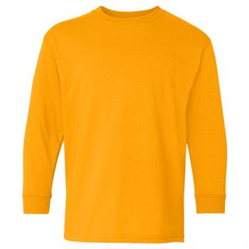 Youth Long Sleeved 100% Cotton T-Shirt