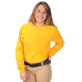 Adult Long-Sleeved 100% Cotton Jersey T-Shirt by Gildan®