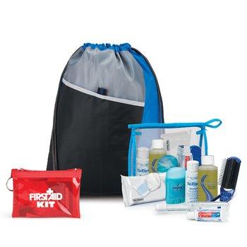 8-Piece Drawstring Backpack & Hygiene Kit Combo