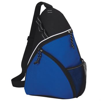 Blue Value Stream Lined Sling Backpack