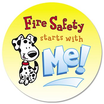 Fire Prevention 5-On-A-Roll Message Stickers