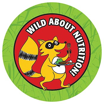 Wild About Nutrition 5-On-A-Roll Stickers