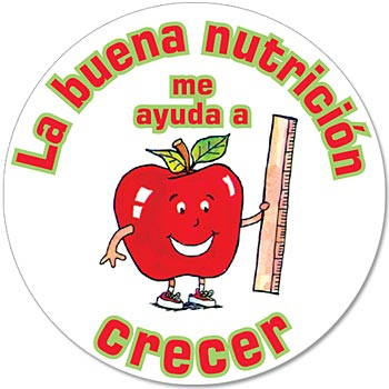 Good Nutrition 5-On-A-Roll Message Stickers (Spanish)