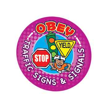 Bicycle Safety 5-On-A-Roll Stickers
