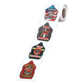 Fire Helmets Theme 5-On-A-Roll Message Stickers