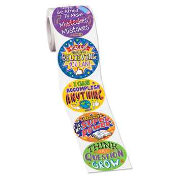 Growth Mindset Stickers - Roll of 200