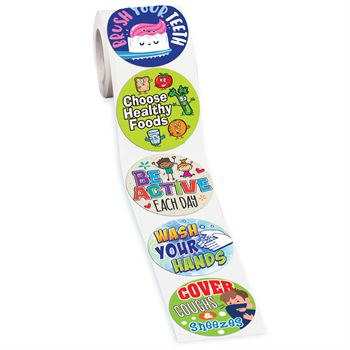 Healthy Habits 5-On-A-Roll Stickers - 200 Stickers Per Roll