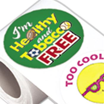 Anti-Smoking Message 5-On-A-Roll Stickers