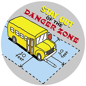 School Bus Safety Assortment Stickers-On-A-Roll