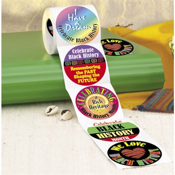 Black History Month 5-On-A-Roll Stickers
