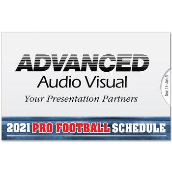 2013 Pro Football Season Wallet Size Schedule